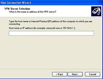 Windows XP VPN Setup