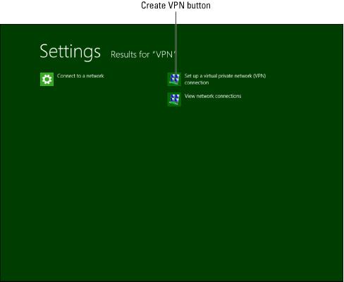 vpn setup for Windows 8